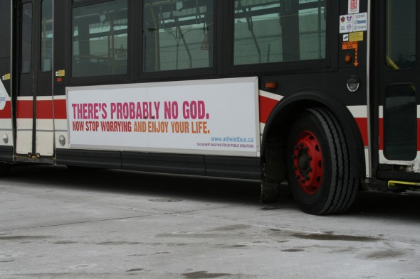 Canadian bus ad (following on the heels of a successful run in London)